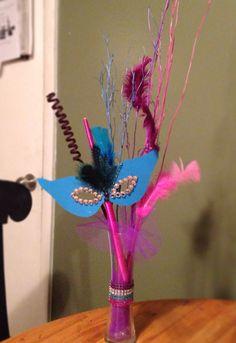 Masquerade Party Table Centerpiece