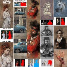 Vintage Sketch Photoshop Action  Download here: https://graphicriver.net/item/vintage-sketch-photoshop-action/19424879?ref=KlitVogli