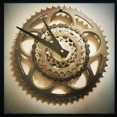 Bicycle Gear Wall Clock Cyclist Gift Steampunk by DreamGreatDreams