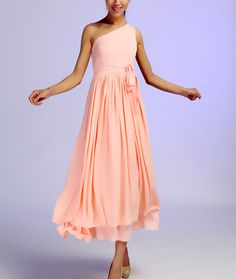 Langes kleid peach