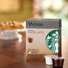 Verismo™ Caffè Latte Pods  A pack of 8 Verismo™ espresso pods and 8 milk pods to make caffè lattes. Used exclusively with the Verismo™ System. Tasting Notes  Bold & Creamy Enjoy this with:  Dark chocolate—enjoyed any time of day. Roast Dark    $12.95 8 servings  http://websites-buy.com/starbucks-coffee-store