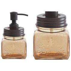 Amber Glass Soap Pump Soap Pump Amber Glass And Brown