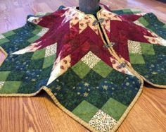 Poinsettia Star Tree Skirt Pattern Traditional Tree Skirt