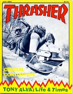 Tony Alva_Thrasher magazine(May Old School Skateboards, Vintage Skateboards, Alva Skateboards, Skateboard Pictures, Skateboard Art, Lords Of Dogtown, Skate Photos, Thrasher Magazine, Skate And Destroy