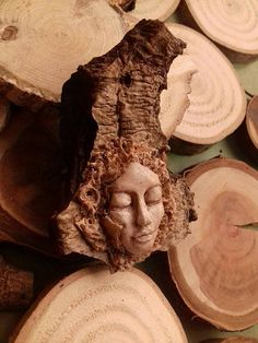 I dedicate this pendant to you, who would like to guard their inner peace. It's (hand)made of polimer clay and unique cottonwood piece. The face is painted with acryl. Inner Peace, My Etsy Shop, Check