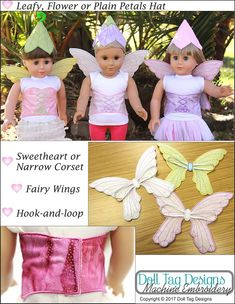 Pixie Faire Doll Tag Designs Fairy Dress Up Machine Embroidery Designs 911389f9a3ee
