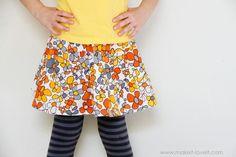DIY Tutorial: DIY Girls Fashion / DIY Basic 3 Tiered Skirt: With Hidden or Exposed Seams - Bead&Cord