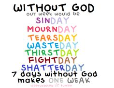 With out god