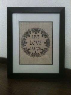 Live Love Laugh Burlap Wall Art - Home Decor - Wall Hanging, Burlap Wall Hanging, Gifts for Her, Burlap Gifts, Wall Decor, Rustic Decor #bestofEtsy #digitaldownloadbanners