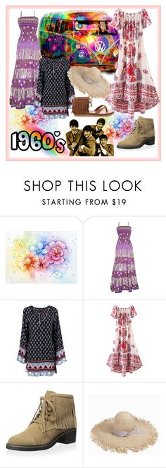 """""""1960s"""" by muskrosevintage ❤ liked on Polyvore featuring WithChic, House of Harlow 1960, Gigi Burris Millinery and MIA"""