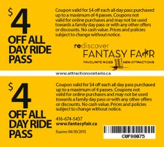 ATTRACTIONS ONTARIO - $4 Off Fantasy Fair. Steve Pacheco Real Estate. More coupons: bit.ly/1hupagH Ontario Attractions, Family Day, Printable Coupons, Online Purchase, Places To Visit, Real Estate, Fantasy, Real Estates, Imagination