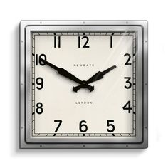 The Quad wall clock in chrome by Newgate Clocks