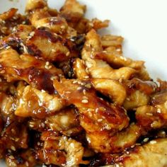Chicken Teriyaki 1 lbs chicken, diced 1 cup chicken broth ½ cup teriyaki sauce ⅓ cup brown sugar 3 garlic cloves, minced Directions 1. Combine chicken broth, teriyaki sauce, brown sugar and garlic cloves in large bowl. 2. Add chicken to sauce, and toss to combine. 3. Pour chicken mixture into crock-pot. 4. Cook on low 4-6 hours, or until chicken is cooked through. 5. Serve over hot cooked rice and spoon extra sauce if desired