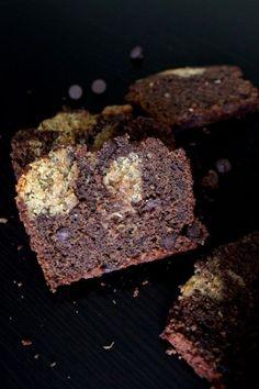 Peanut Butter Swirled Chocolate Zucchini Bread   www.chocolatewithgrace.com  #zucchini #bread #chocolate