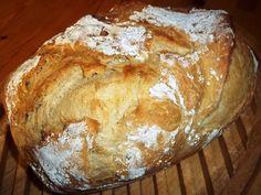 Εύκολο και γρήγορο σπιτικό ψωμί Knead Bread Recipe, No Knead Bread, Pita Bread, Bread And Pastries, No Bake Treats, Appetisers, Greek Recipes, Food To Make, Good Food