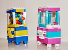 Lego candy dispenser tutorial with link to parts list and step by step instructions