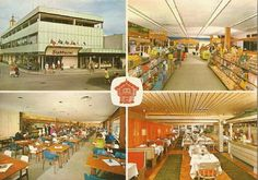Østfold fylke Fredrikstad kommune Stabburet fabrikk og butikk 4-bilders kort 1960-tallet Utg Mittet
