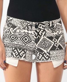 pattern on white shorts then make them ombre