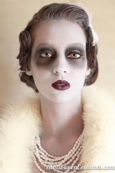 ghost makeup - Halloween Costumes 2013 May be my makeup for my ghost girl costume!!