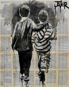 "Saatchi Online Artist Loui Jover; Drawing, ""book ends"" #art"