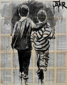 "Saatchi Online Artist Loui Jover; Drawing, ""book ends"" #art"