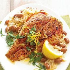 Cajun Snapper with Red Beans and Rice - Dinner Eatery