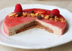 Cream Cake with almond, chocolate and strawberry