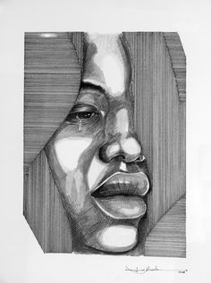 desenho a tinta da china sobre papel, por josealmeida