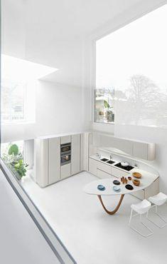 Minimalist Design, Interior Architecture, Sweet Home, Kitchen Cabinets, Design Inspiration, House, Furniture, Modern Kitchens, Kappa