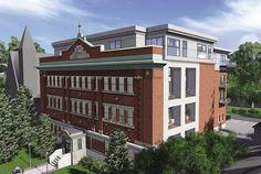 Condo à St-Lambert, sur la rive-sud Condo, La Rive, Laval, Loft, Construction, Sweet Home, Mansions, House Styles, Remodeling