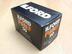 Ilford Pan F Plus 50. A traditional black & white film with fine granularity. The expiry date is June, 2006.