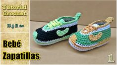 Tenis Nike para bebé en crochet paso a paso en Español - YouTube