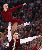 Tatiana Volosozhar and Maxim Trankov of Russia skate in the Pairs Free Skate on Day 6 of the ISU World Figure Skating Championships 2016 at TD Garden...