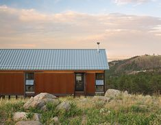 Fire-resistant Cor-Ten steel exterior in Colorado.