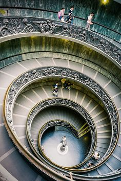 Double Spiral of Vatican Museum  ~ Photography by Ervine Lin