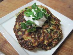 dukan diet recipe Zucchini and Chicken Sausage Pancakes