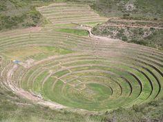 Moray circles (Inca seeds laboratory), Cuzco - Peru