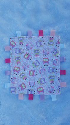Baby Owl Taggie Blanket - Sensory Blanket - Baby Girl Gift - Security  Blanket - Comforter - Baby Shower Gift- Owl Tag Blanket 6e9fd42c5