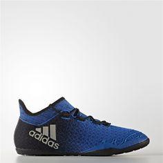 Adidas X Tango 16.1 Indoor Shoes (Blue   Running White   Black) Adidas  Soccer 37377b1077d02