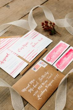 watercolor wedding stationery // photo by Julie Lim Photographer // design by Just Write Studios