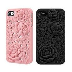 Rose iPhone 4 / 4s Case - Silicone Rose Embossing Cover