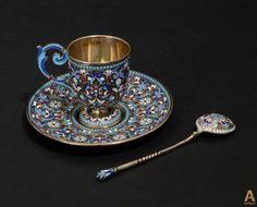 Серебряный кофейный гарнитур