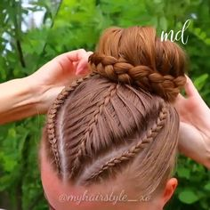 UPDO Creating this hairstyle takes about half an hour but it lasts easily more than one day, so win win.Creating this hairstyle takes about half an hour but it lasts easily more than one day, so win win. Braided Hairstyles Updo, Braided Updo, Girl Hairstyles, Hairstyle Braid, Medieval Hairstyles, Volleyball Hairstyles, Bun Hair, Curly Hair Styles, Long Hairstyles