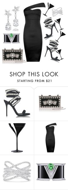 """Cocktails"" by ellenfischerbeauty ❤ liked on Polyvore featuring Giuseppe Zanotti, Manolo Blahnik, Harry Winston, Italesse, Boohoo, Effy Jewelry and Louis Vuitton"