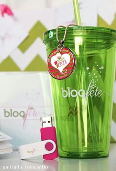 @Melissa #BLOGfete goodies!  Blogfete is a social media conference held in Orlando, Florida!  Fun Florida living!  Necklace from @Lisa ~ The SweetTalk Shop , cd from @Laura - Eye Candy Event Details