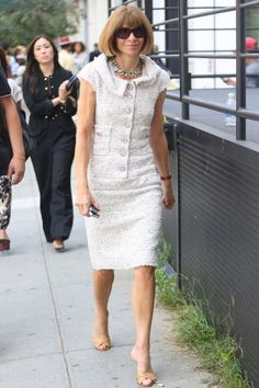 ms #annawintour I've seen you in those shoes THREE times so far @ #NYFW
