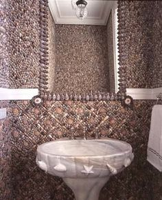 I grabbed this too, long ago.  I am going to make our last bathroom the Shower/bath portion a Grotto and I liked how this looked.  Cool and different.