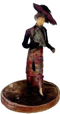 Figurine de Mode de avec tête en cire réalisée au Musée GREVIN pour Mmes…