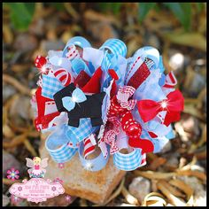 Boutique Wizard of Oz Funky Loopy Hair Bow... But I could make it a wreath!