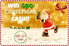 $50 Holiday Cash Flash Giveaway